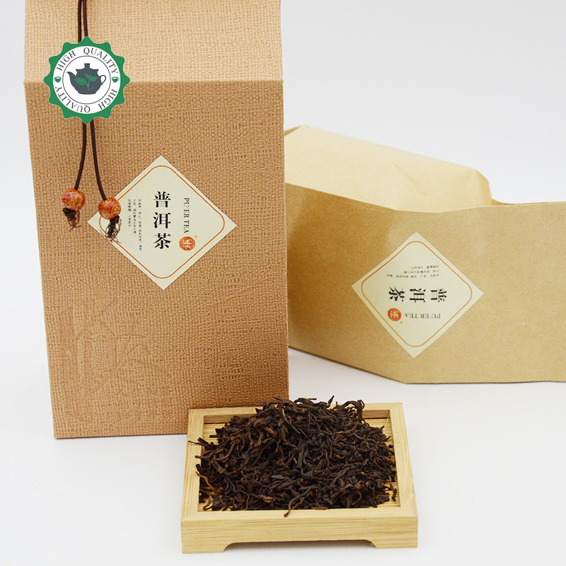 Good quality Chinese Old Puer tea 200g Yunnan ripe tea Shu Puerh Health Care Black buds Pu'Er tea for weight loss slimming tea cheap