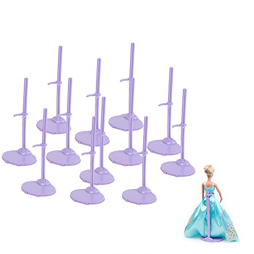 12pcs Clothing Stand Model Support Frame Prop up For Barbie Dolls(China (Mainland))