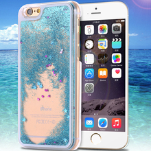 Dynamic Liquid Glitter Sand Quicksand Star Case For iphone 6 Plus Crystal Clear Cellphone Back Cover For iphone 6 4.7""