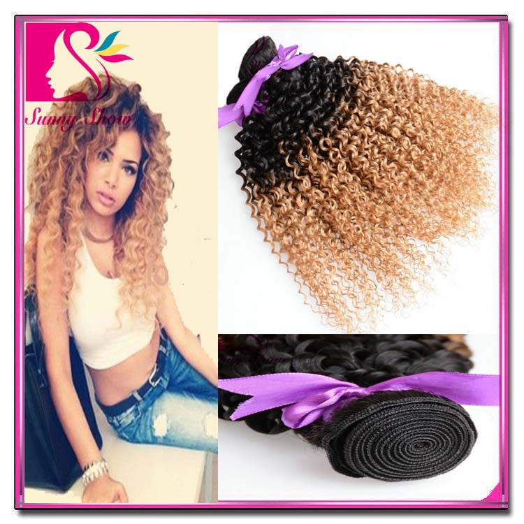Discount Brazilian Hair 3 Pieces Brazilian Kinky Curly Virgin Hair Ombre Yvonne Brazilian Kinky Curly Hair Beauty Forever Hair