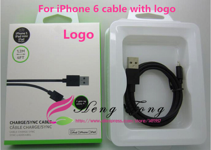 DHL 100Pcs/Lot 8 Pin Connector USB Adapter Data Sycn Charger Cable For iPhone 6 5 5S iPad Belkin 1.2M 4FT With Retail Box(China (Mainland))