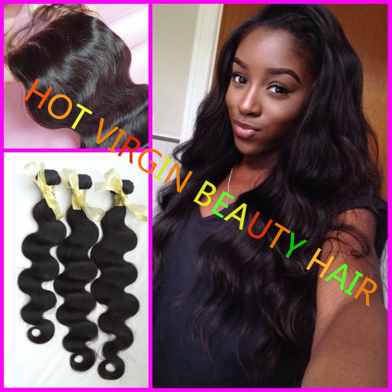 8A Grade Peruvian Virgin Hair With Closure,Hair Bundles With Closure,Hair Bundles With Silk Closures 3pcs Bundles Body Wave<br>