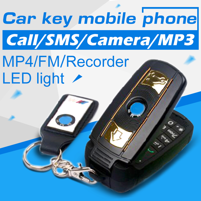 2015 Unlock Low price good quality super small Quad-bands supercar Special mini cell mobile phone car key cellphone X6 P034(China (Mainland))
