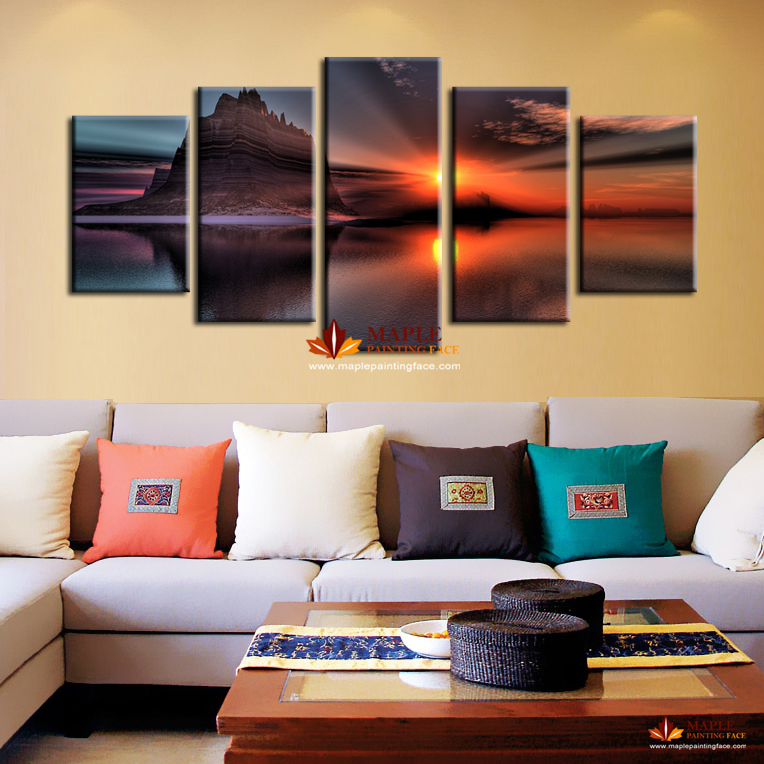 Free shipping home decoration wall art painting of for Wall art sets for living room