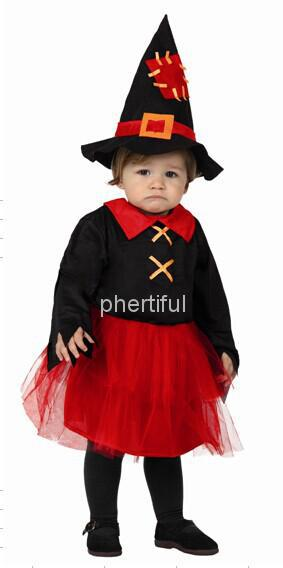 Wholesale - 2016 New Style Party Clothing Halloween Cosplay Costume For Infant Baby Knitted Devil Costumes Black & Red Color(China (Mainland))