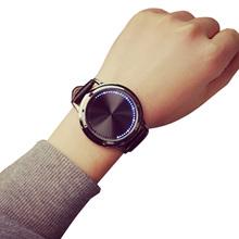 Moda corea del estilo mujer hombre cuarzo relojes LED relojes de vestido con estilo pulsera resistente al agua reloj Sport relojes casuales