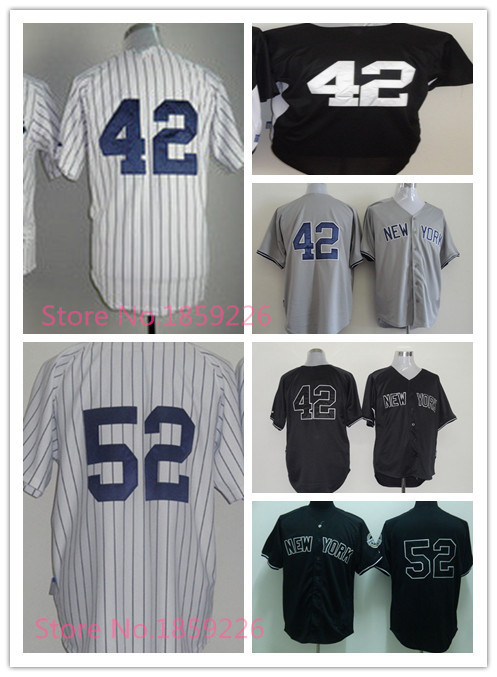 Free shipping Cheap #52 C.C. Sabathia Jersey Authentic new york baseball shirts Stitched #42 Mariano Rivera jersey yankees 2015(China (Mainland))