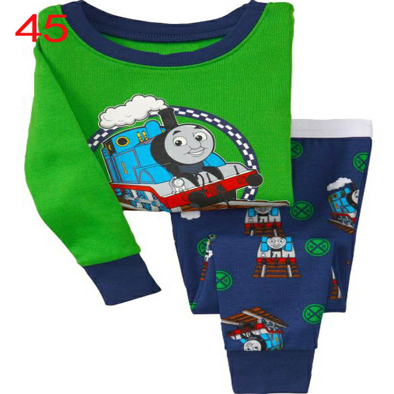 Thomas the Tank Engine brands child clothing baby lovly pajamas 100% cotton kids pajamas(China (Mainland))