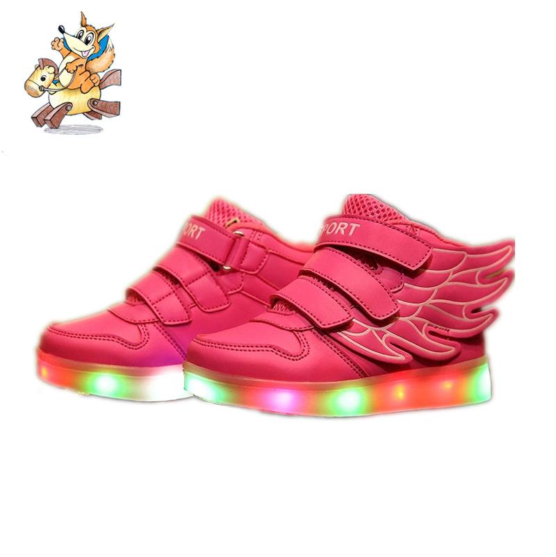 2016Kids Shoes Children With Light Chaussure Lumineuse Enfant Boys Tenis Infantil Sneakers Basket Led Enfant Breathable 006
