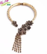 2015 New Arrival Luxury Statement Mental Flower Necklace Women Hotsale Jewlery Good Quality Jewelry 4581