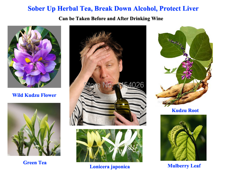 Sober Up Herbal Tea, Break Down Alcohol, Protect Liver, Can be Taken Before and After Drinking Wine(China (Mainland))