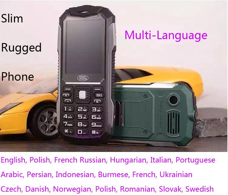 Original S6 Long standby ultra slim phone GSM Senior old man rugged mobile phone Russian Keyboard Dual sim(China (Mainland))