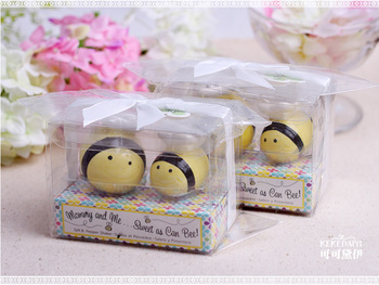 Mommy and Me Sweet as Can Bee Honeybee Salt Pepper Shakers 120Set/Lot wedding favor baby shower baptism party birthday gift