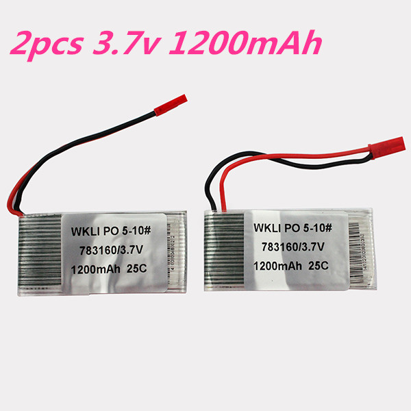 2Pcs Lipo Battery 3.7v 1200mAh 25C JST Plug For Syma S006G Mjx F28 F29 T05 T41C RC Helicopter Quadcopter Drone Bateria Toy Part<br><br>Aliexpress