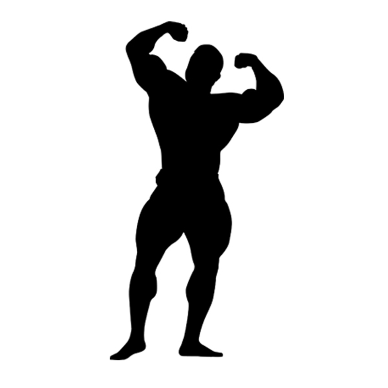 Top Stickers For Cars >> Bodybuilder Silhouette Gym Sport Car Styling Funny Car Stickers for Cars Acessories Decoration ...