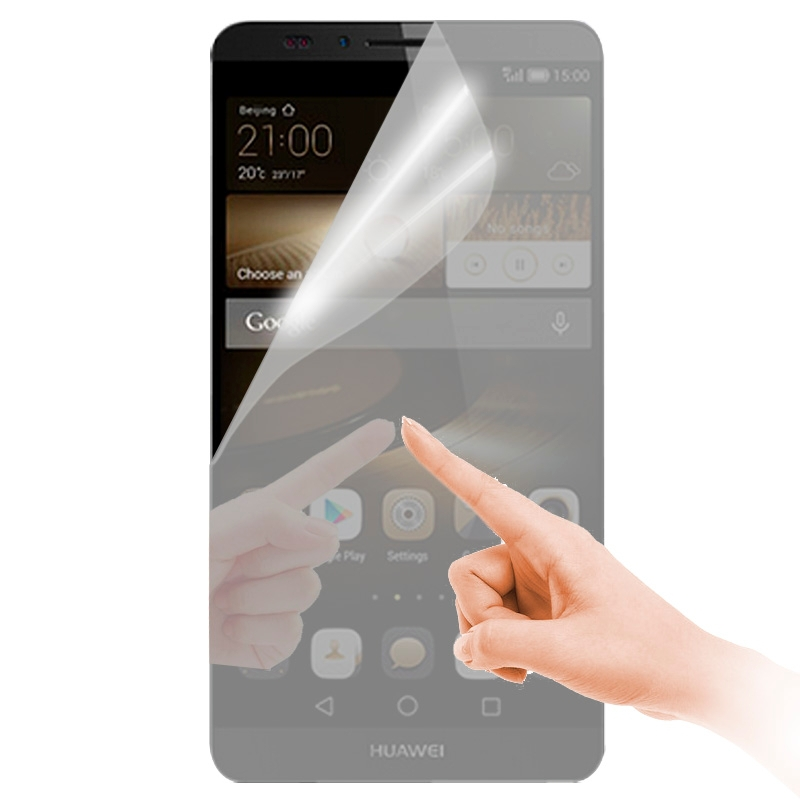 Wholesales Mirror Screen Protector for Huawei Ascend Mate 7 High Quality Cell Phone Protective Film Skin with Cleaning Cloth(China (Mainland))