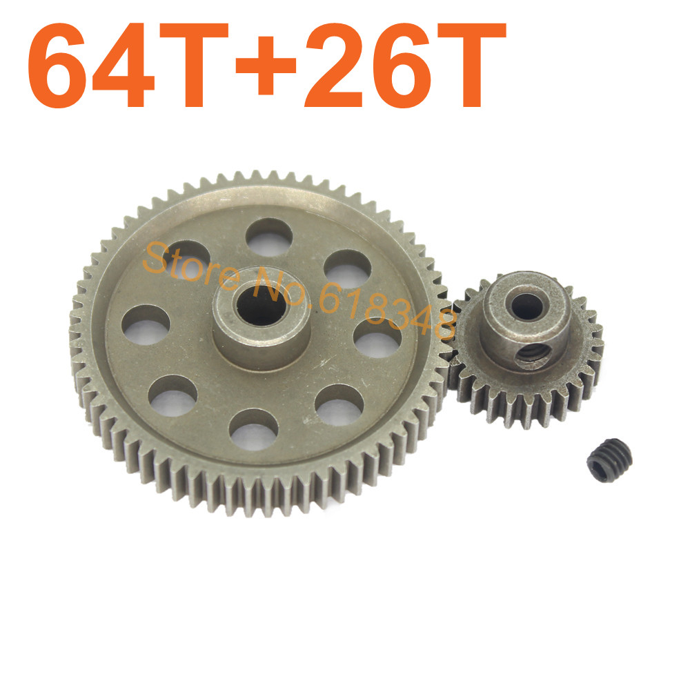 HSP 11184 Steel Metal Diff Differential Main Gear 64T 11176 540 Motor 26T RC Parts For 1/10 Car Monster Truck BRONTOSAURUS 94111<br><br>Aliexpress