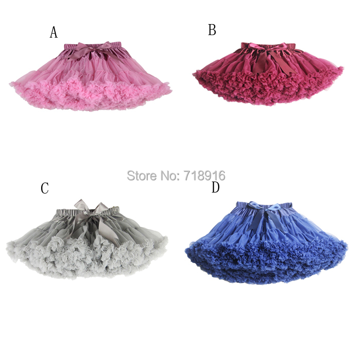 New 2015 Hot 21 Colors Vintage Baby Girls Tutu Skirt Dancewear Girl Fluffy Pettiskirt Kids Petticoat Free Shipping(China (Mainland))