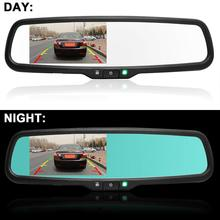 4.3 Inch HD 800*480 Auto Dimming Special Bracket TFT LCD Car Parking Rear View Rearview Mirror Monitor Video Player 2 CH Input(China (Mainland))