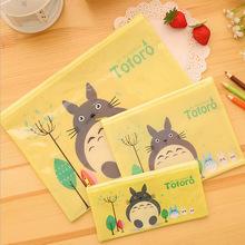 Cartoon Cute cat PVC file bag pencil case file folder documents filling bag office school suppllies stationery bag(China (Mainland))