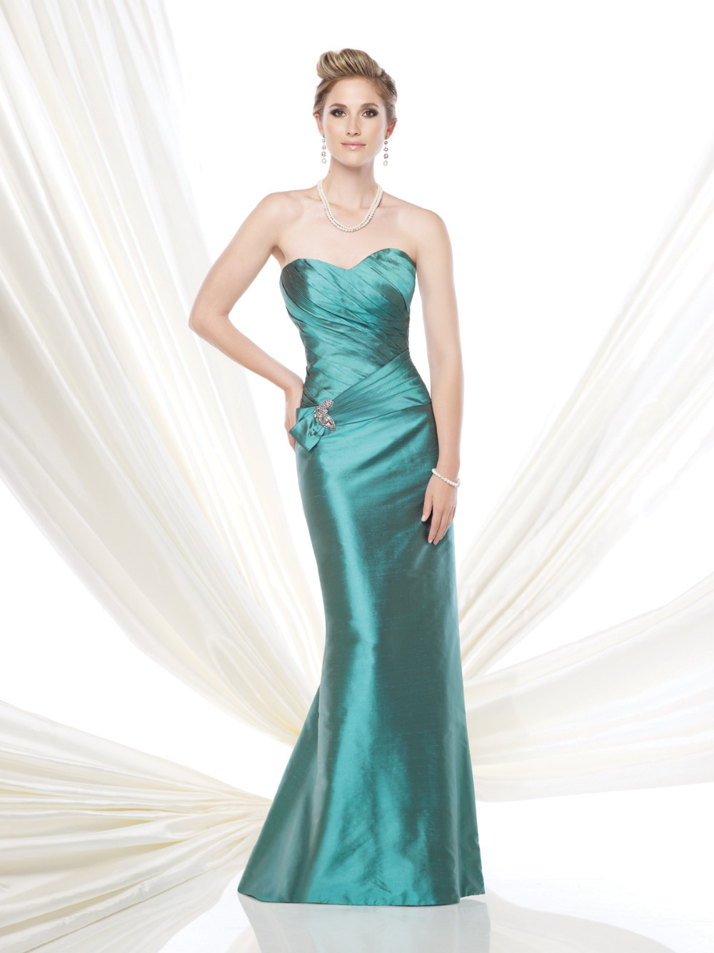 Emerald Green Mother of the Bride Dress Mermaid Robe Mere De La Mariee ...