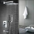 Wholesale And Retail Promotion NEW Modern 12 Rain Shower Faucet Bathroom Tub Spout Shower Arm Valve