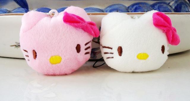 Sweet Kawaii 2Colors - Hello Kitty 4CM Plush Stuffed TOY DOLL , Pendant Wedding Bouquet Gift Plush Toys Dolls(China (Mainland))