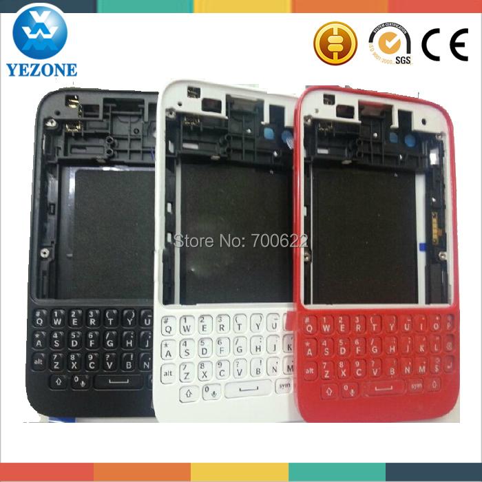 Original Front Housing +Middle Bezel +Back Cover Door Housing For Blackberry Q5 Full Housing +Keypads Black /White/Red Color