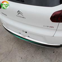 Citroen C3 XR 2014 rear trunk light strip stainless steel Decorative stickers sequins