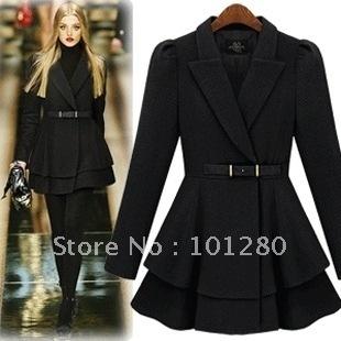 Free shipping free belt  2014 new  ladies wool coat elegant  hot selling wool jacket casual outerwear winter overcoat c016