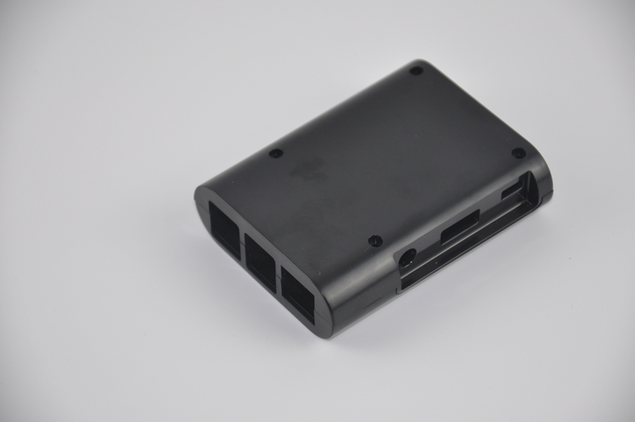 New Computer Raspberry Pi Model B+ (Plus) Protective Enclosure Storage Case Box Black(China (Mainland))