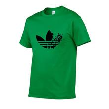 Algodão casual impressão DO LOGOTIPO T-shirt dos homens top fashion curto-de mangas compridas dos homens T-shirt T-shirt dos homens camisa dos homens camisa do T de 2019(China)