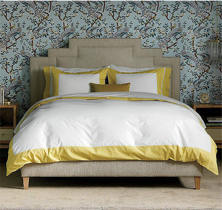 Export to European hotel king size bedding sets green light blue dark  blue. bed cover Picture   More Detailed Picture about Export to European