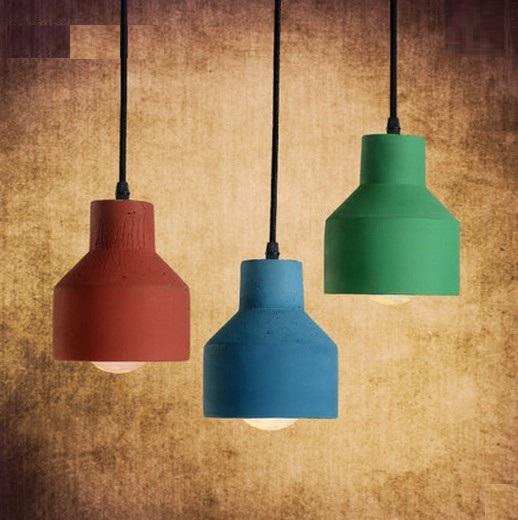 Фотография Edison Loft Style Creative Cement Droplight Vintage Pendant Light Fixtures For Dining Room Bar Hanging Lamp Indoor Lighting