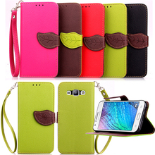 Buy Leaf Buckle PU Leather Flip Phone Case Samsung Galaxy J1 2014 SM-J100F J100 J100F J100H 4.3 Inch Case Shell Cover Holster for $3.55 in AliExpress store