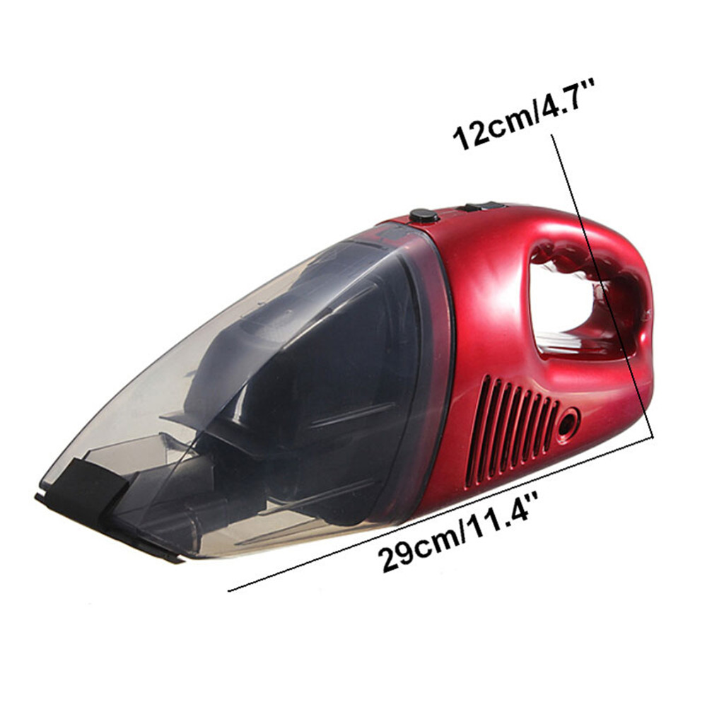 High Quality DC12V 60W Mini Red Car Vacuum Cleaner Portable Handheld High Power Suit for home, office, travel and all vehicles(China (Mainland))