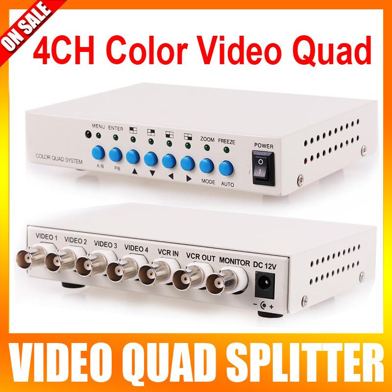 4 Channel CH Video Quad Camera Processor Switcher 4CH Color Video QUAD Processor(China (Mainland))