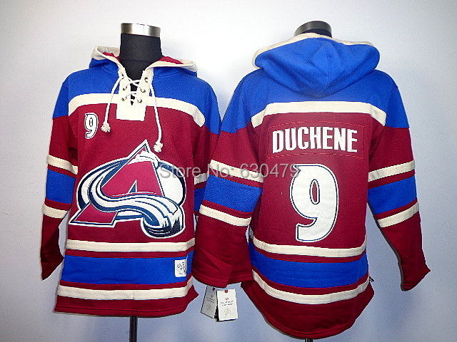 cheap stitched Colorado Avalanche ice hockey hoody #9 Matt Duchene Men's Jersey Hockey Hoodies Sweatshirts size:m-xxl