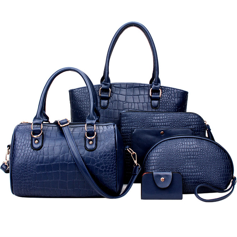 5pcs/set fashion handbag new woman bag leather luxury brand designers handbags high quality ladies shoulder bag messenger bags(China (Mainland))