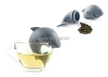 Mr. Shark Tea Leaf Filter Silicone Tea Bag Creative Tea Infuser Drinkware Tools TB14110701