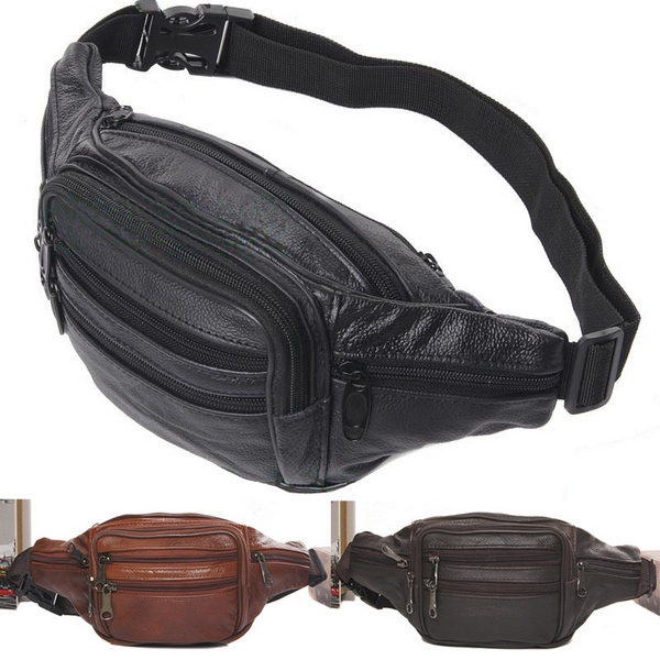 Hot New Waist Bag Fanny Pack AC56 New Hot Sale Mens Compact Genuine Reall Leather Belt<br><br>Aliexpress