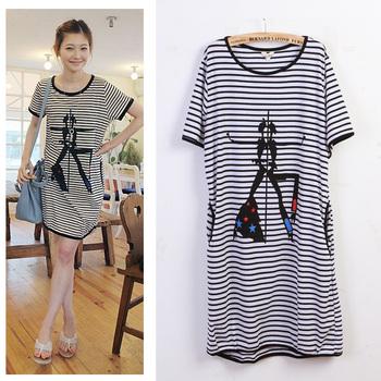 Mm stripe plus size t-shirt xxxl plus size t-shirt dress plus size stripe t-shirt