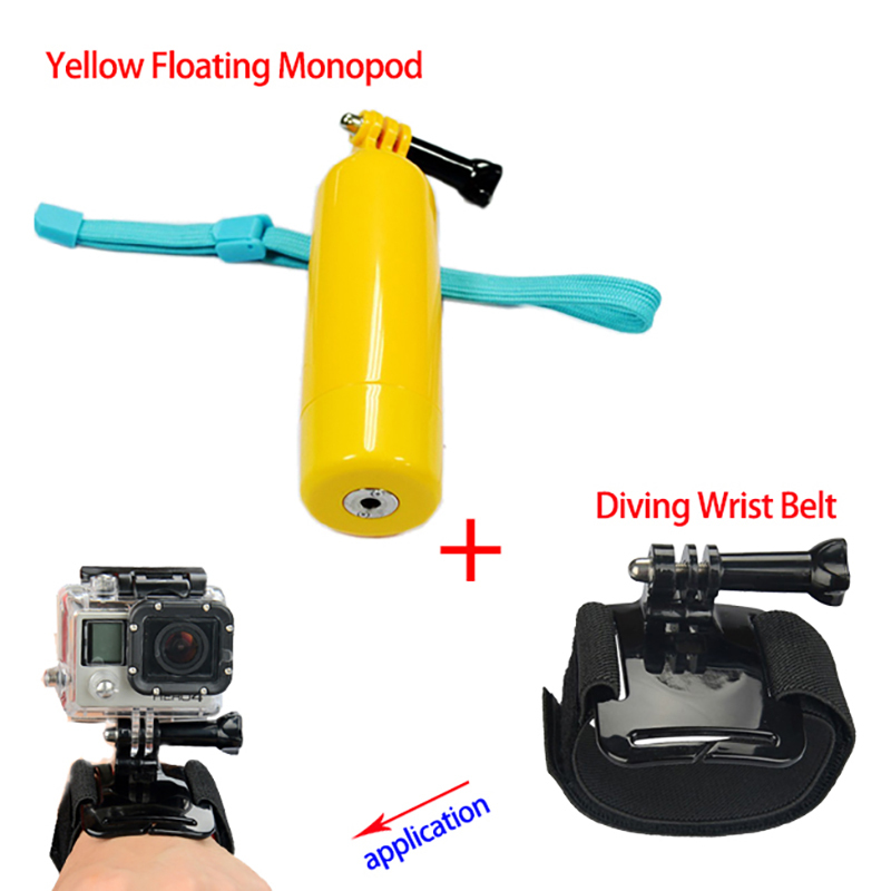 In tripods from consumer electronics on aliexpress com alibaba group - Gopro Accessories Go Pro Bobber Advanced Yellow Floating