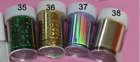 Free Shipping 30 rolls transfer foil for nail art, nail transfer foil for 3D cute and fashion nails
