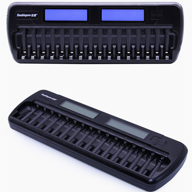 Factory Certificated 16 Slots/bay Smart Battery Charger with LCD For AA AAA NiCd NiHM Rechargeable Cells Batteries free shipping(China (Mainland))