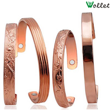 gifts for new year 2015 cuff men anti arthritis rheumatism blanks magnets health men magnetic pure copper bracelet bangles(China (Mainland))