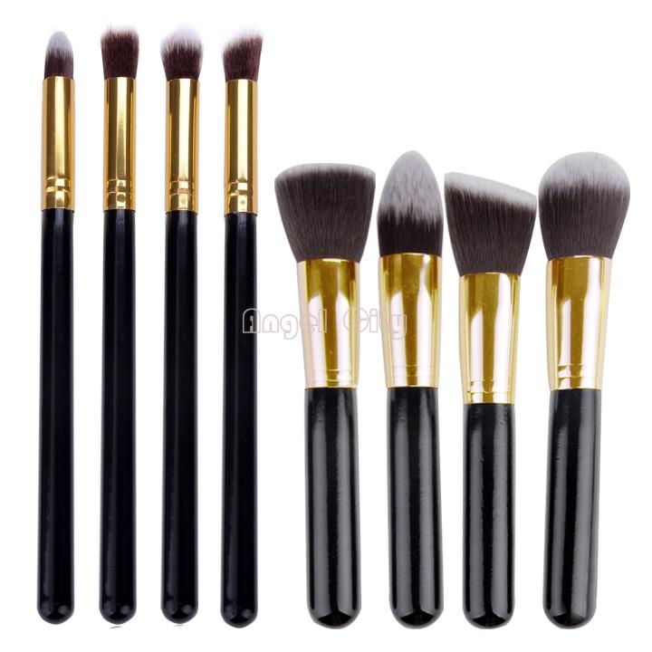 8 pcs Soft Synthetic Hair Make Up Tools Kit Cosmetics Beauty Makeup Brush Sets Gold Dropshipping 25(China (Mainland))