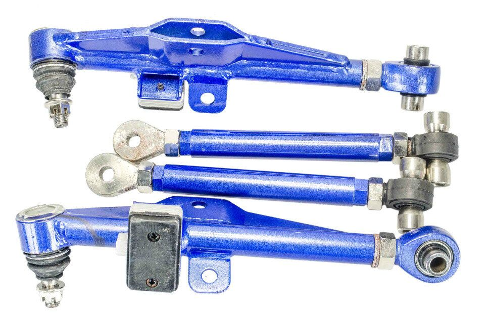 VR RACING-FRONT LOWER CONTROL ARM For NISSAN S13 Adj. Front Lower Control Arm - Blue Color VR9831B
