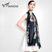 [VIANOSI] 2016 Silk Scarf Women Fashion Designer Brand Scarves Casual Shawls Sjaal Print Foulards Femme Luxury VA008(China (Mainland))