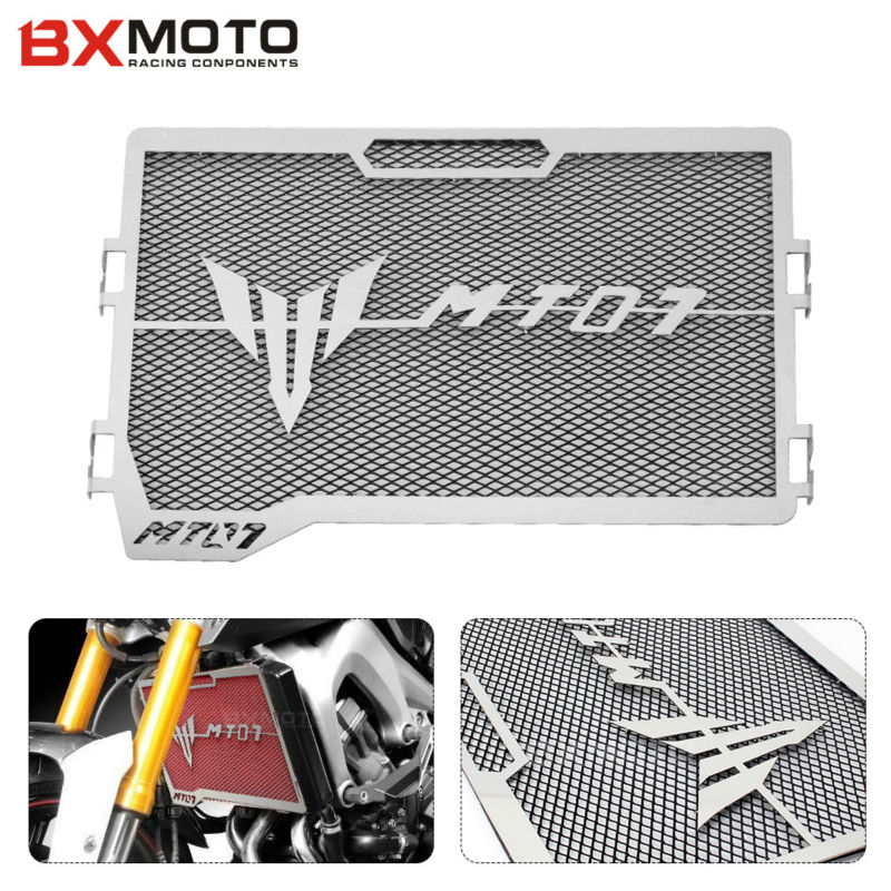 Black Motorcycle accessories Engine Radiator Bezel Grille Protector Grille Guard Cover For Yamaha MT07 MT-07 2014 2015(China (Mainland))